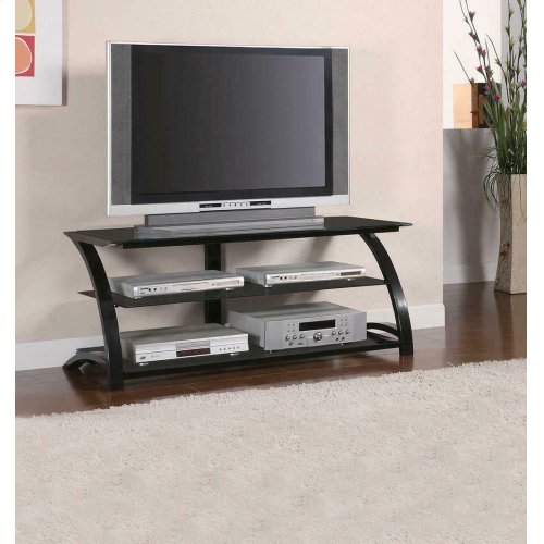 Contemporary Black Metal TV Console