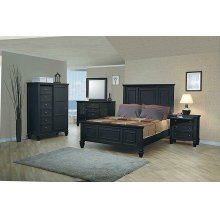 Sandy Beach Black Queen Storage Bed