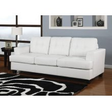 WHITE BND L. SOFA W/Q.SLEEPER