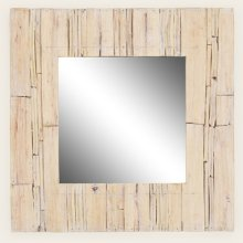 Natural Wood Trimmed Mirror