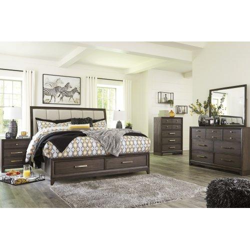 Brueban - Gray 3 Piece Bed Set (King)