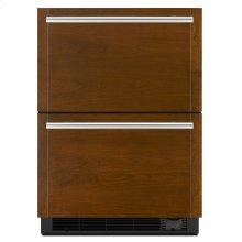 "Panel-Ready 24"" Refrigerator/Freezer Drawers Panel Ready"