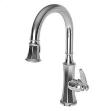 White Pull-down Kitchen Faucet
