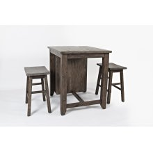 1700-36 MADISON COUNTY 3 Pc. COUNTER HEIGHT SET in BARNWOOD