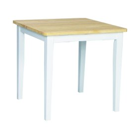 Square Table in White/Natural