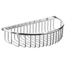 "Antique Gold Shower basket with visible fix, 10 5/16"" W x 2 3/8"" D"