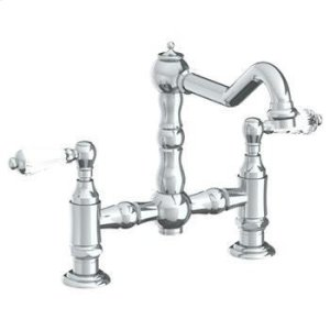Deck Mounted Bridge Kitchen Faucet Product Image