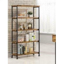 Barritt Industrial Antique Nutmeg Bookcase