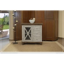 3 Drawer, 1 Door, Gray Finish Server