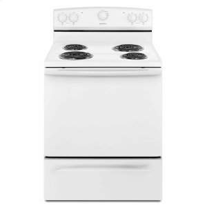 30-inch Electric Range with Warm Hold - White Product Image