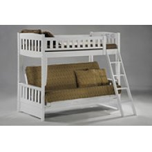Cinnamon Futon Bunk in White Finish