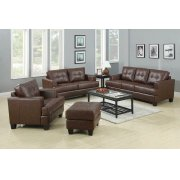Samuel Transitional Dark Brown Loveseat Product Image