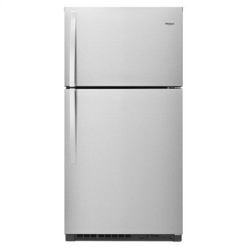33-inch Wide Top Freezer Refrigerator - 21 cu. ft. Fingerprint Resistant Stainless Steel