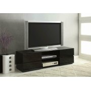 Contemporary Glossy Black TV Console Product Image