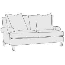 Isabella Loveseat in Cerused Charcoal (795)