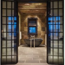 Papillon Bathtub Honed Black Granite