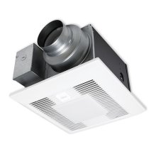 WhisperGreen Select FV-05-11VKSL1 50-80-110 CFM, Ceiling Mount Fan/Light, Pre-Installed Multi-Speed with Time Delay