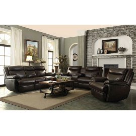 Macpherson Brown Leather Glider Recliner