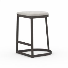 Counter Stool Size Stone Grey Cover Val Outdoor Bar + Counter Stool, Washed Brown