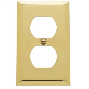 Polished Brass Beveled Edge Duplex Product Image