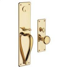 Lifetime Polished Brass Trenton Entrance Trim