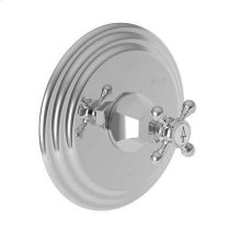 Biscuit Balanced Pressure Shower Trim Plate with Handle. Less showerhead, arm and flange.