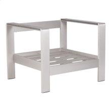 Cosmopolitan Arm Chair Frame Brushed Aluminum