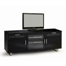 Contemporary Black Enclosed TV Console