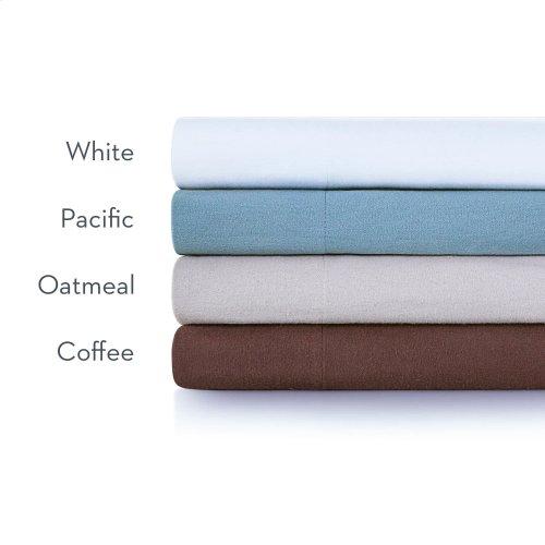 Portuguese Flannel Queen Pillowcase White