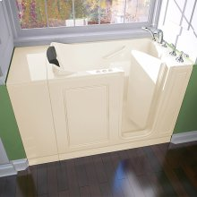 Luxury Series Right Drain Walk-in Tub Combination Massage with Tub Faucet  American Standard - Linen
