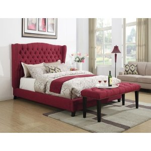 FAYE RED QUEEN BED