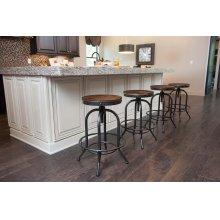 Pinnadel - Grayish Brown Set Of 2 Dining Room Barstools