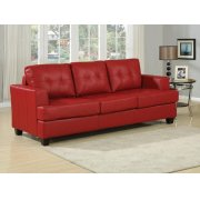 RED BND L. SOFA W/Q.SLEEPER Product Image
