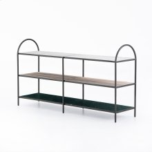 Noel Media Console-grey Gunmetal