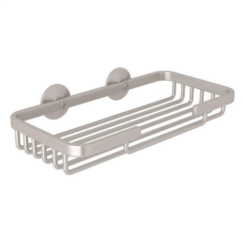 Satin Nickel Wall Mount Rectangular Soap Basket