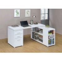 Yvette White Executive Desk Product Image