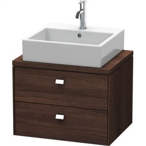Brioso Vanity Unit For Console Compact, Chestnut Dark (decor)
