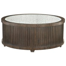 Clarendon Round Cocktail Table in Arabica (377)