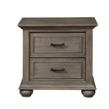 Chatham Park 2 Drawer Nightstand in Warm Grey