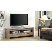 Transitional Weathered Brown TV Console
