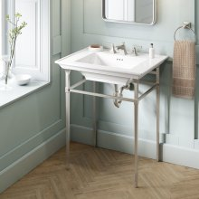 Town Square S Metal Console Table  American Standard - Brushed Nickel