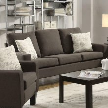 Bachman Transitional Grey Sofa