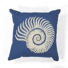 "L111 Seashell Spiral Pillow 18"" X 18"""