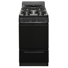 20 in. Freestanding Sealed Burner Gas Range in Black