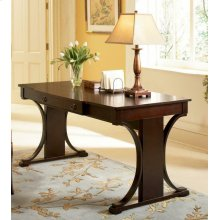Red Brown Transitional Writing Desk