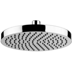 "Matt Black Chrome 8"" Easy clean shower head"