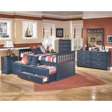 Leo - Blue 6 Piece Bedroom Set