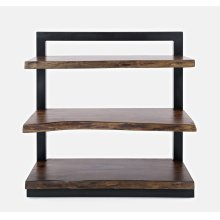 Nature's Edge L. Chestnut 5 Shelf Bookcase 35x14x71
