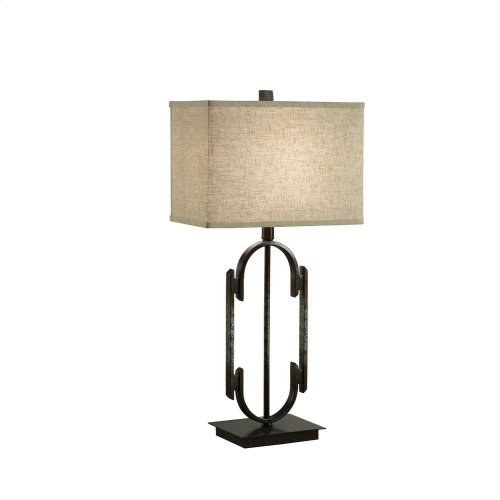 Traditional Black/bronze Table Lamp