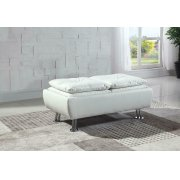 Dilleston Contemporary White Ottoman Product Image